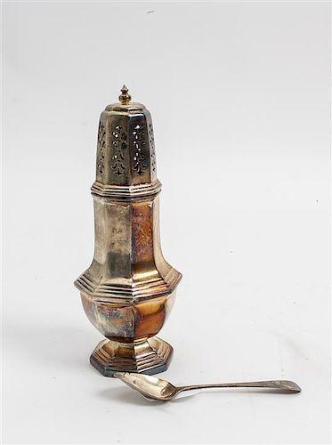 * An English Silver Caster, William Bush and Sons