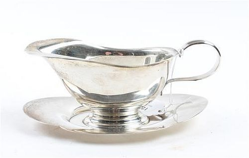 * An American Silver Sauce Boat