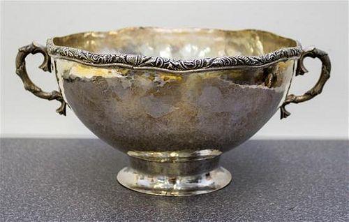 * A Peruvian Silver Center Bowl