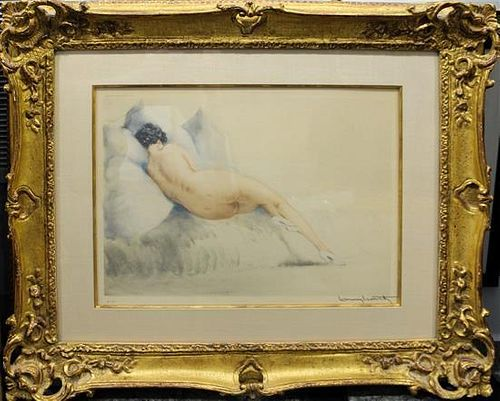 * Louis Icart, (French, 1888-1950), Boudeuse