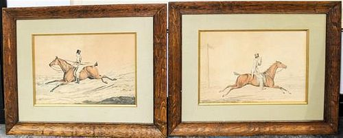Artist Unknown, (English, 19th century), A Pair of Equestrian Scenes