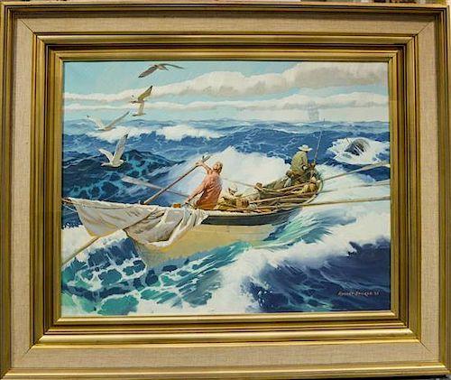 Robert Sticker, (American, 1922 - 2011), Fishermen, 1968