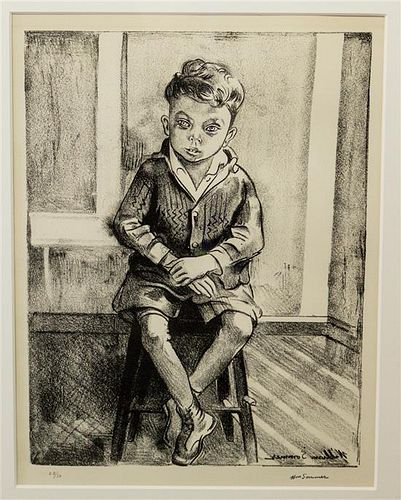 William Sommer, (American, 1867-1949), Untitled (Seated Boy)
