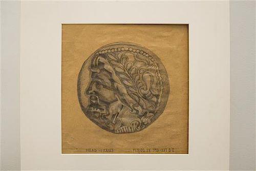 * John E. Thompson, (American, 1882-1945), Head of Zeus, Head of Pallas, Lion's Head, Hera Lacinia, Unknown Female Head, Unkn