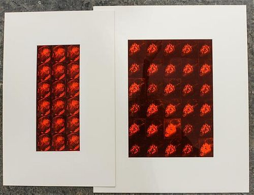 * Artist Unknown, (21st century), Portraits of Heidi and Burt Turner, 1989 (two works)
