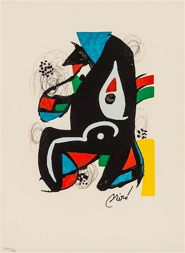 Joan Miro, (Spanish, 1893-1983), Untitled (from La melodie acide), 1980
