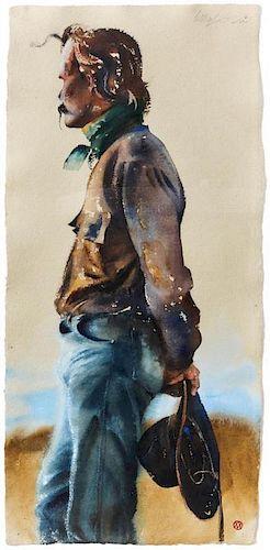 William Matthews, (American, b. 1949), Cowboy