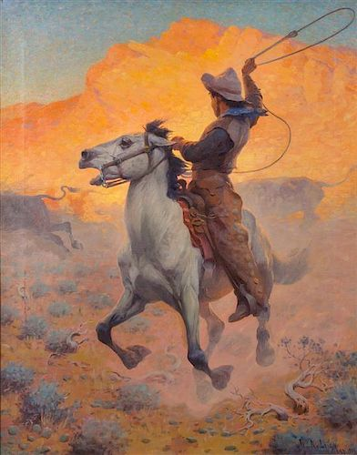 William Robinson Leigh, (American, 1866-1955), The Roper