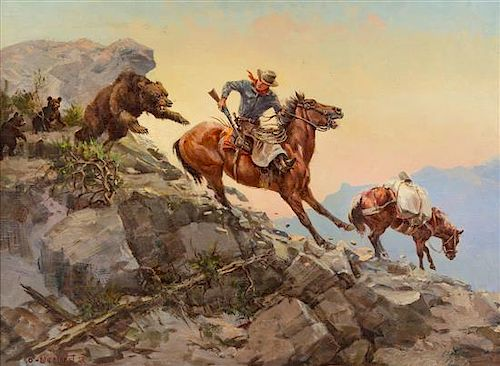 Olaf Wieghorst, (Danish/American, 1899-1988), An Unexpected Attack