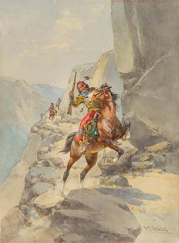 Herman Wendelborg Hansen, (American, 1854-1924), Coming over the Pass