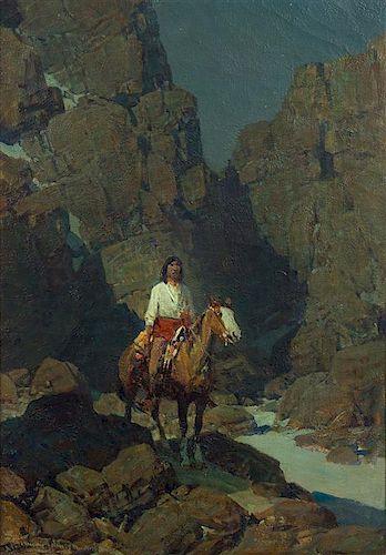 Frank Tenney Johnson, (American, 1874-1939), Rocky Steeps
