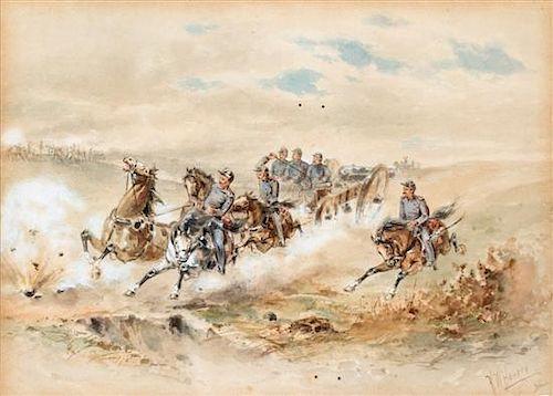 Herman Wendelborg Hansen, (American/German, 1854-1924), Riders on Horseback