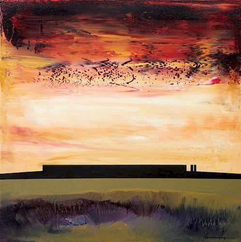 Dan Namingha, (American, b. 1950), Evening Horizon