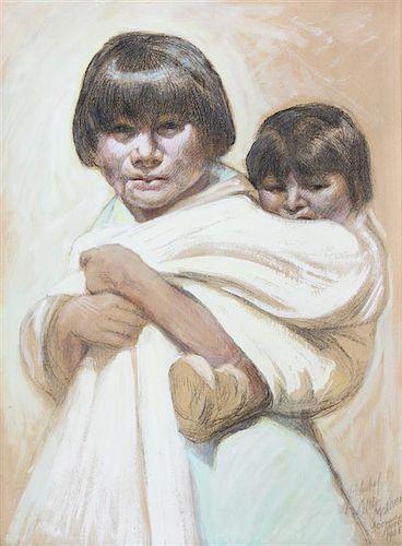 Joseph Adam Imhoff, (American, 1871-1955), Little Mother, Acoma Pueblo, 1908
