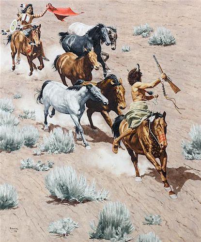 Stanley Borack, (American, 1927 - 1993), The Raid, 1979