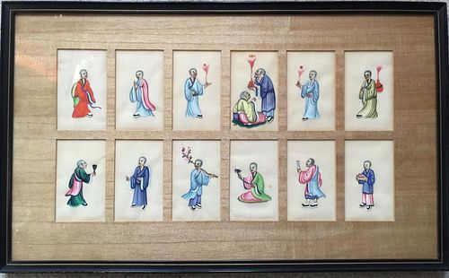 VINTAGE CHINESE RICE PAPER PAINTING