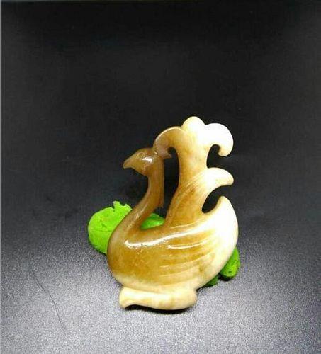 Chinese Jade Bird, 7 x 4.4 cm
