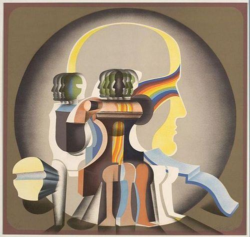 "Belkin, Arnold,  Canadian (1930-1992),""Utopia""  ,"