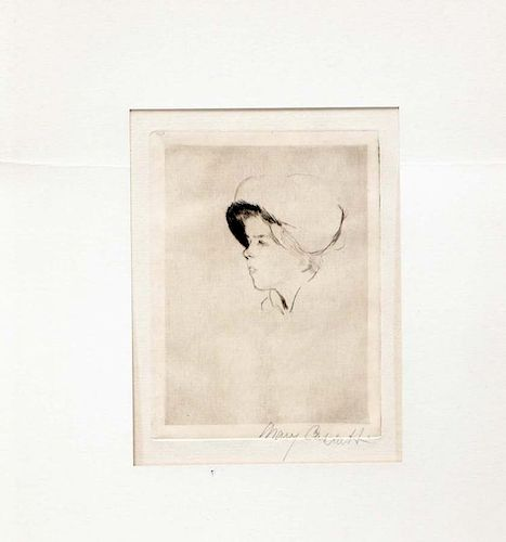 "Cassatt,      Mary,   American 1844-1926,""Portrait of Susan"" ,B-50"