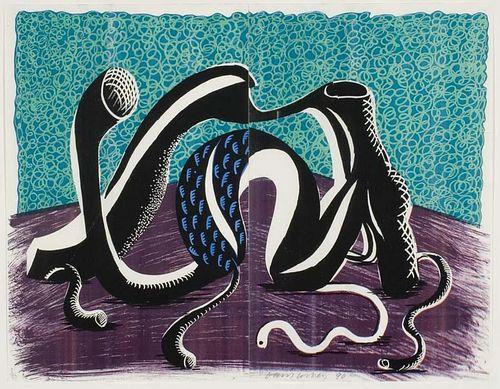 "Hockney,  David,  British b. 1937,""EXTENDING FEBRUARY"" ,"