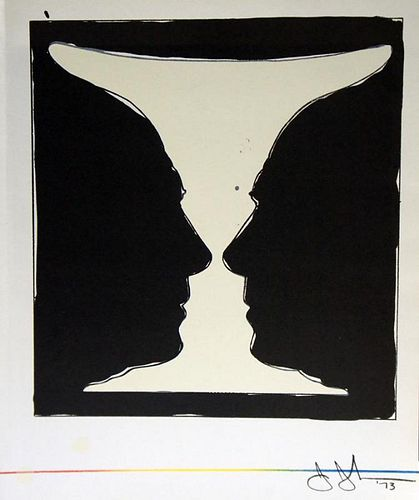 """Johns, Jasper,  American (b. 1930),""""Cup 2 Picasso"""" from XXe, No. 40, June 1973,"""