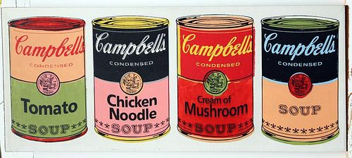 "Kaufman, Steve A.,  American 1960- 2010,""Campbell Soup-Quad"","