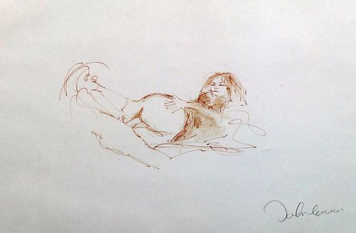 """Lennon, John Mbe  ,  English (1940 - 1980) ,"""" Erotic 3"""" from the """"Bag 1"""" collection,"""