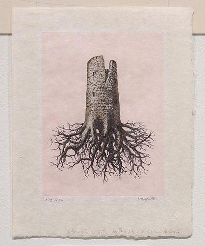 """Magritte,    Renee ,   Belgian, 1898-1967,""""La Folie Almayer"""" (Almayer's Folly), """" from the suite """" Le Lien de Paille"""", K-18"""