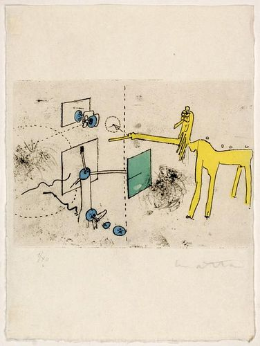 "Matta, Roberto ,  Chilean (1911-2002), ""Paroles Peintes"" from ""Paroles Peintes"", S-37"