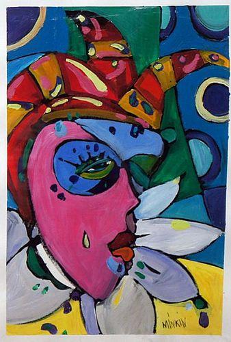 "Minkin, ,  Russian 20th century,""Untitled composition #2"","