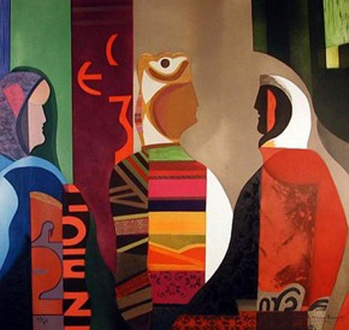 """Papart, Max ,  French 1911-1994,""""Les Femmes d'Alger"""","""