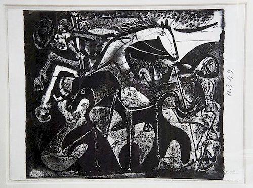 Picasso,  Pablo,  Spanish 1881-1973,Corrida le Picador,B-599, M-172