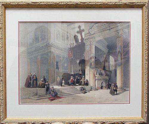 "Roberts, David,   Scottish 1796-1864, ""Chancel of the church of St. Helena"","