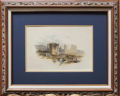 "Roberts, David,   Scottish 1796-1864, ""Circular Temple of Baalbec"","
