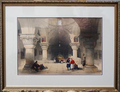"Roberts, David,   Scottish 1796-1864, ""Crypt of the Holy Sepulcher Jerusalem"","