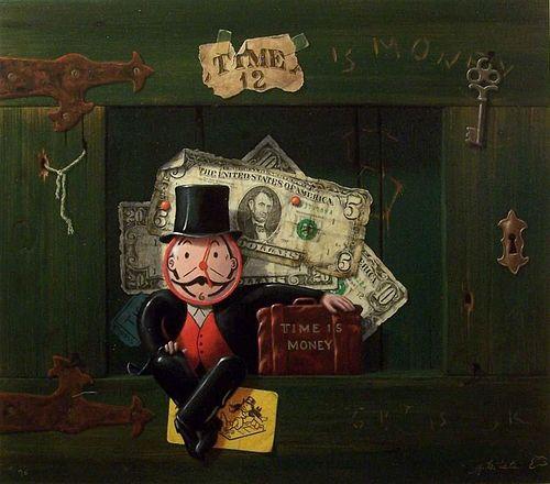 "Tate,      Gayle B.,  American b.1944,""Time is Money,"","