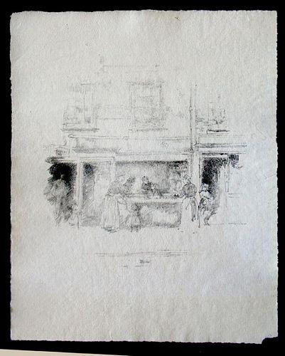 "Whistler, James Abbott Mcneill,   Brittish 1834-1903,""Maunders Fish Shop, Chelsea"","
