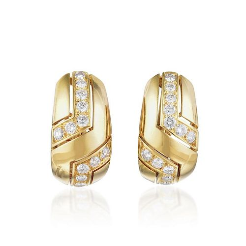 b4e1a5cab Cartier Gold and Diamond Ear Clips by Fortuna Auction - 924756 ...