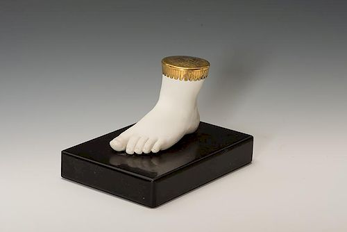 Parian Cast of Tom Thumb's Foot.