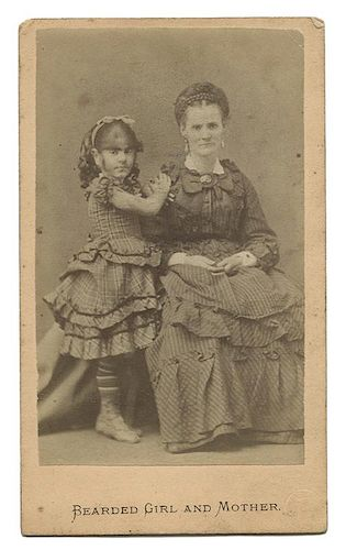 Bearded Girl And Mother Carte De Visite CDV By Potter