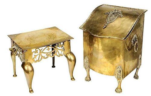 Two Brass Fireside Items