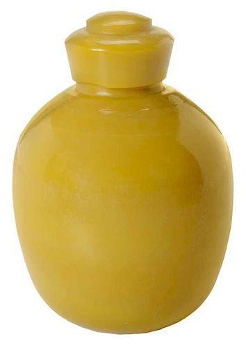 Peking Glass Vase with Lid
