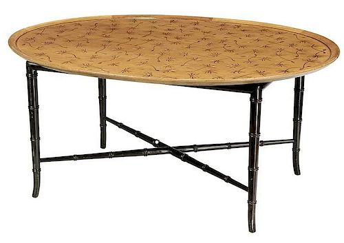 Kittinger Oval Tray Top Cocktail Table