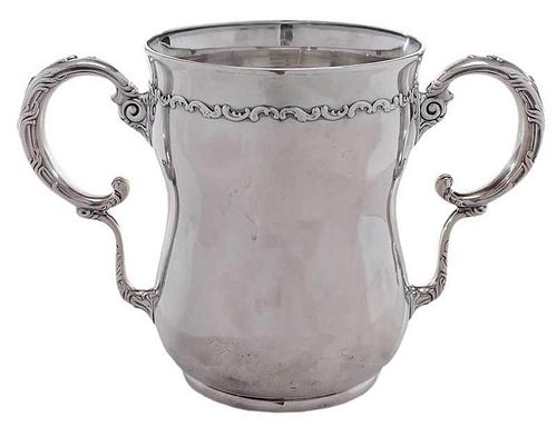 Large Sterling Two Handled Cup