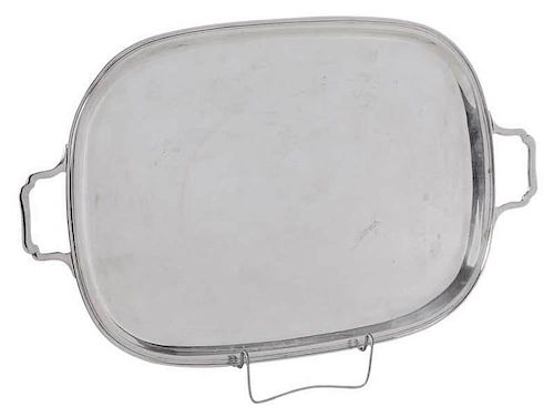 Sterling Two Handled Tray