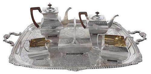 Five Piece English Silver Tea Service
