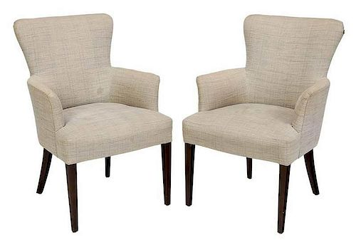 Pair of Upholstered Arm Chairs by Nancy Corzine