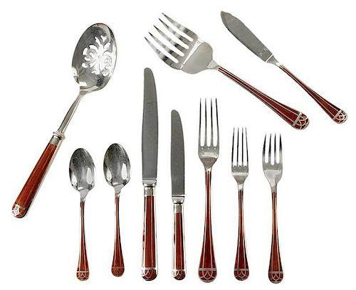 Christofle Silver-Plate Flatware, 88 Pieces