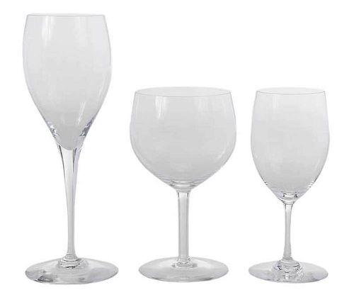 40 Baccarat Clear Wine Goblets