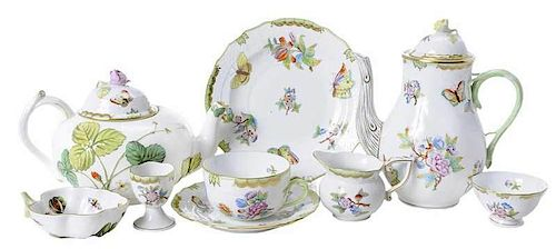 18 Piece Herend Queen Victoria Tea Set